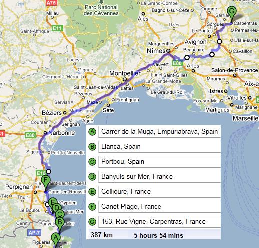 Carpentras France Map.Eu 2011 Tour De Europe France Stage 4